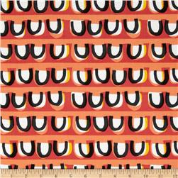 Contempo Our Town Loopy Stripe Pink/Orange Fabric