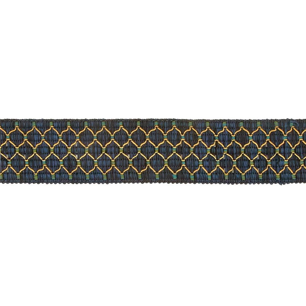 "Decorative Trim 2"" Braid Navy/Green"