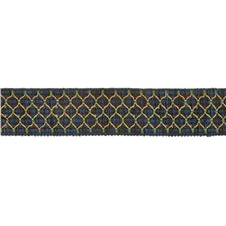 Decorative Trim 2'' Braid Navy/Green