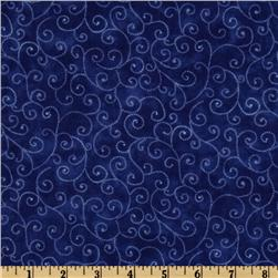Moda Marble Swirls (9908-24) Royal Blue Fabric
