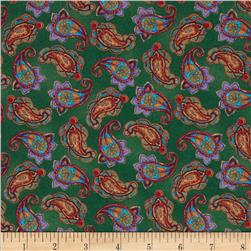 Medium Paisley Green