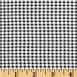 "Chiffon 1/4"" Check Black/White"