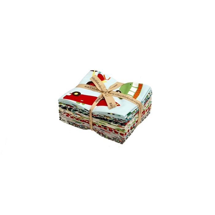 Riley Blake Wheels 2 Fat Quarters Multi