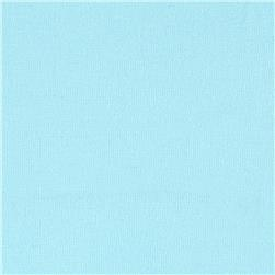 Stretch Cotton Sateen Solid Sky Blue