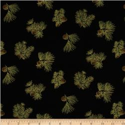 Holiday Accents Classics 2013 Metallic Pine Cones Black