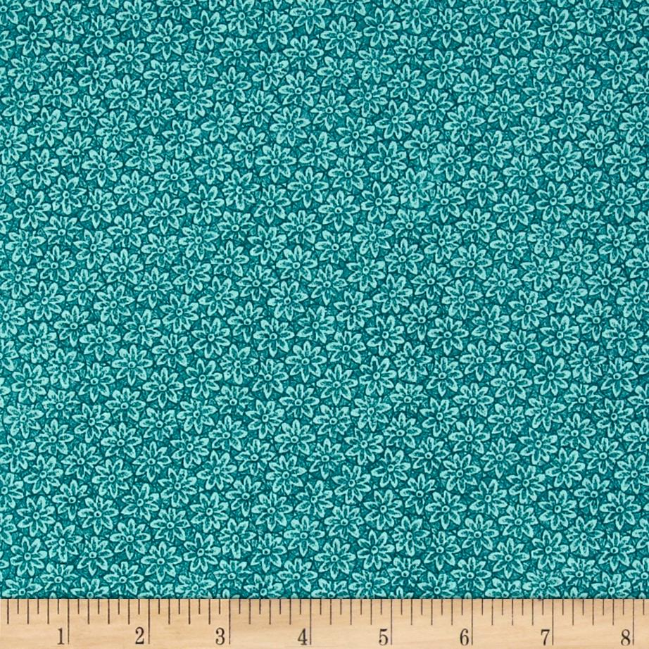Giotto Small Packed Floral Turquoise