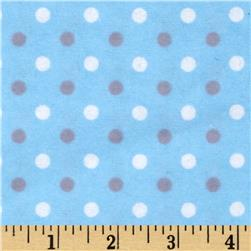 Flannelland Simply Dots Blue/Grey