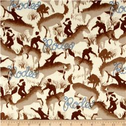 Michael Miller Round Up Flannel Rodeo Cream