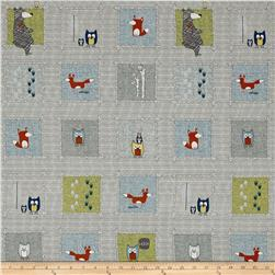 Woodie Winderland Animals Squares Beige