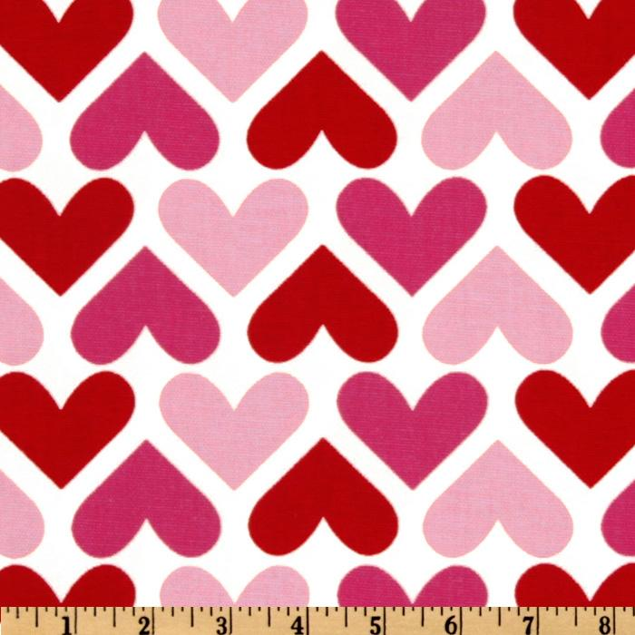 Premier Prints I Heart U White/Pink/Red