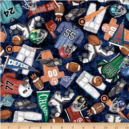 Gridiron Everything Football Indigo