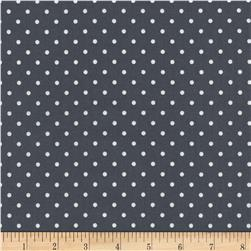 Timeless Treasures Polka Dots Steel Fabric