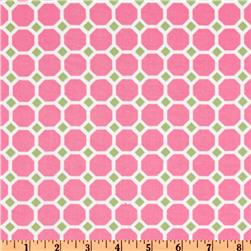 Kaufman 21 Wale Cool Cords Honeycomb Pink Fabric