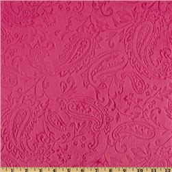 Minky Paisley Cuddle Embossed Fuchsia Fabric