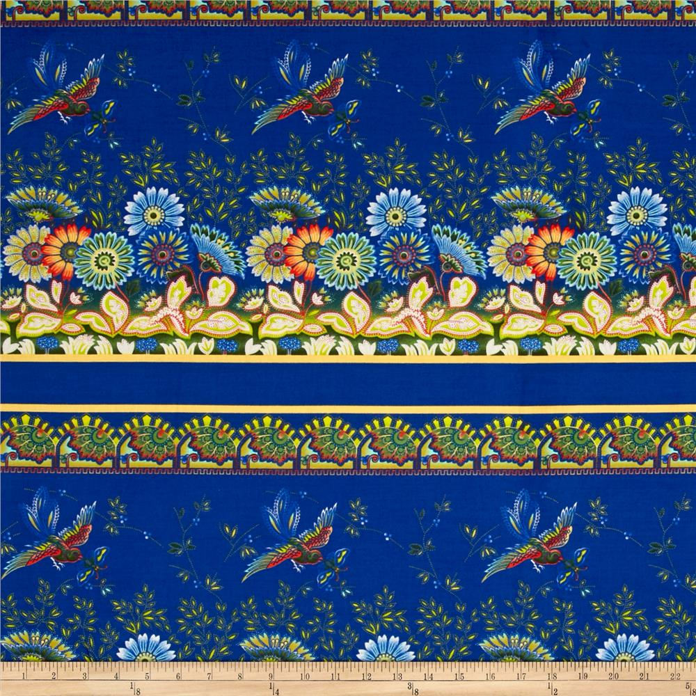 April Cornell Gypsy Dance Border Blue