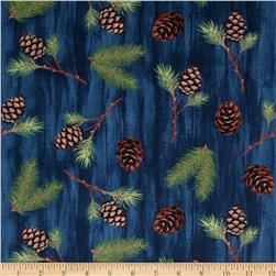 Among The Pines Tossed Pinecones Dark Blue