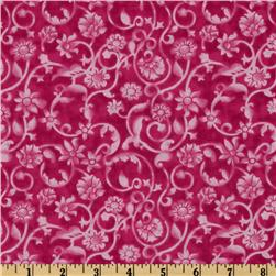 Tonal Scroll Hot Pink