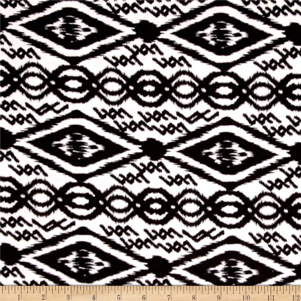 Fashion Jersey Knit Abstract Black/White