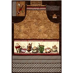 Hot Chocolate Apron Panel Brown