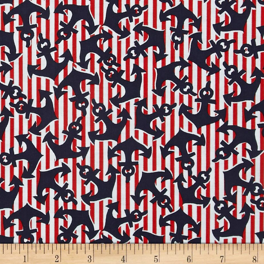 Cabana II Anchor's Away Navy/Red