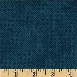 Essentials Criss-Cross Texture Winter Navy Fabric