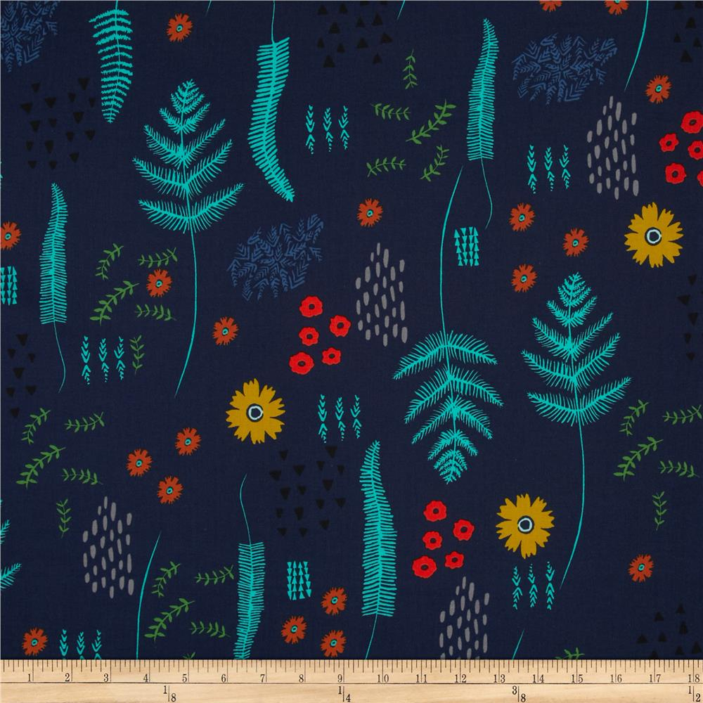 Cotton + Steel Mesa Fern Book Navy