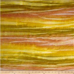 Bali Rainbow Flannel Striations Golden Moss