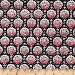 Anna Griffin Eleanor Ombre Medallion Black Fabric