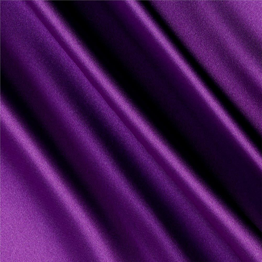 Silky Satin Charmeuse Solid Lavender Fabric By The Yard