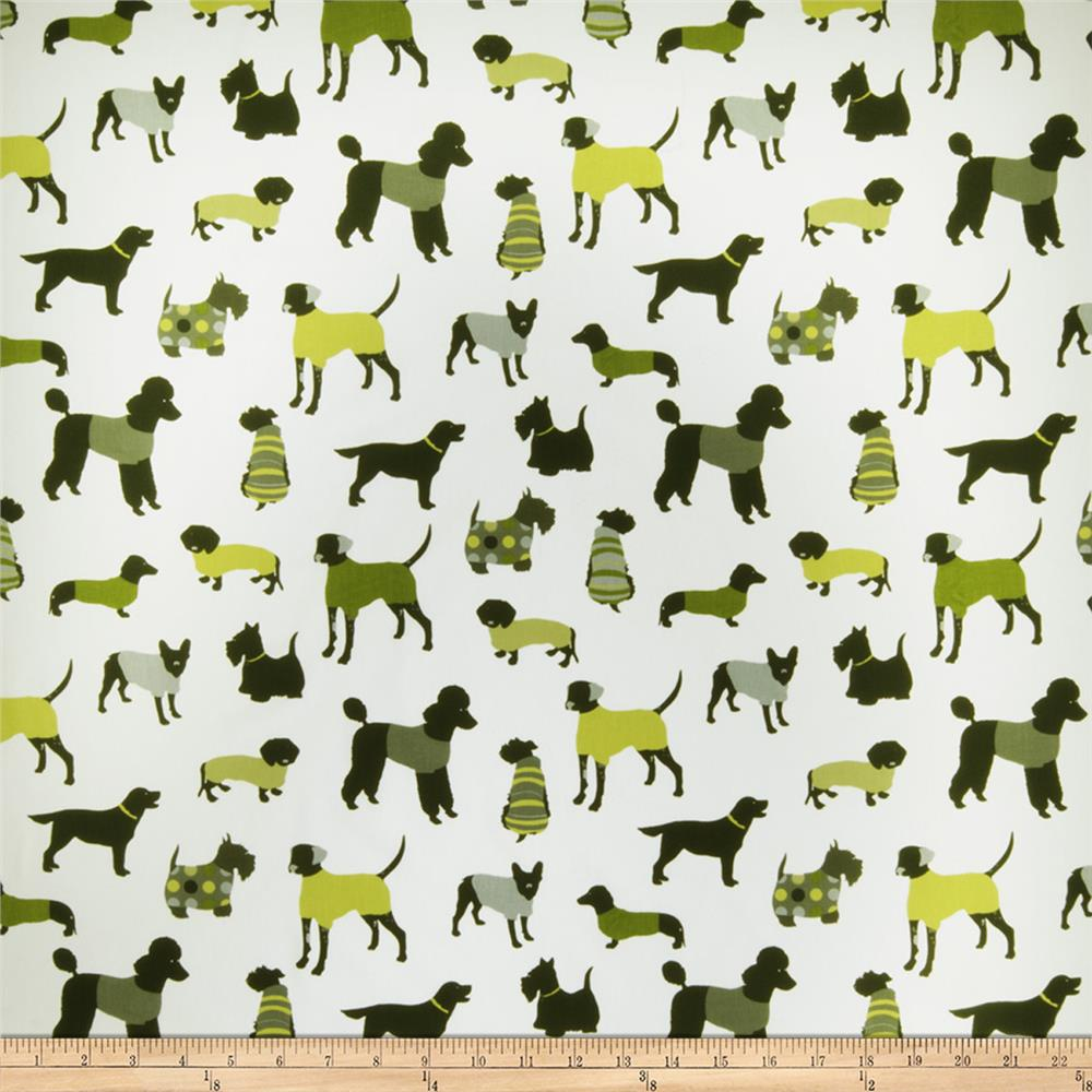 Fabricut Doggy Days Graphic Lime