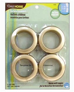 Curtain Grommets 8 Pack Matte Gold 1 -