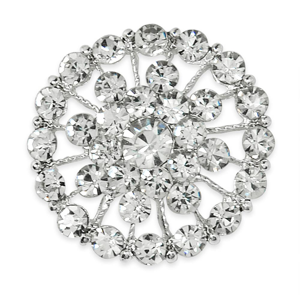 3.7cm Glass Rhinestone Button