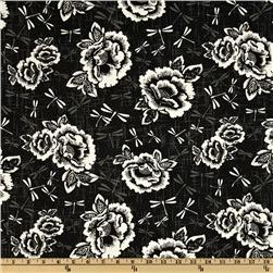 Kona Bay Gentle Breeze Large Floral Black