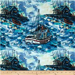 Sea Fishing Fishing Boat Blue