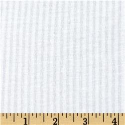 Designer Tissue Knit Thin Stripe White