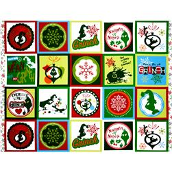 How The Grinch Stole Christmas Flannel Squares Multi