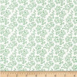 Mini Floral White/Green