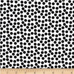 Dots Black/White Fabric