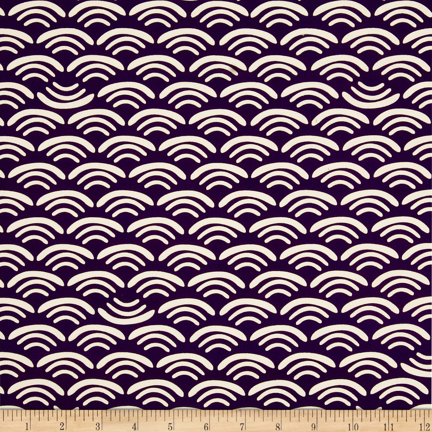 Koi Organic Cotton Canvas Smile & Wave Plum