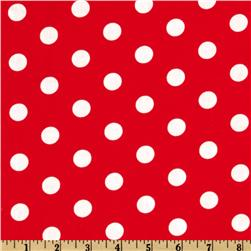 Spot On Polka Dots Red Fabric