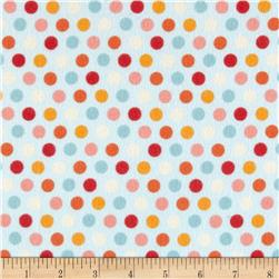 Riley Blake Just Dreamy 2 Flannel Dots Blue