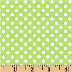 Spot On Mini Dots Lime Green Fabric