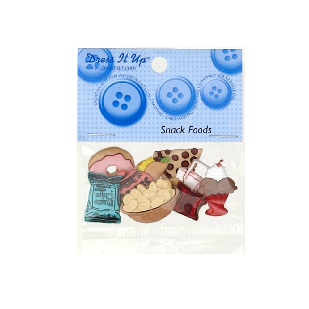 Dress It Up Embellisment Buttons Snack Food