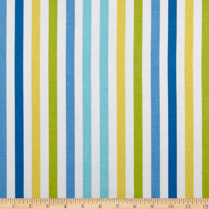 Waverly Line Up Stripe Twill Bluebell