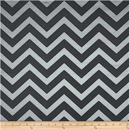 Rella Chevron Satin Jacquard Charcoal Fabric