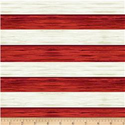 Henry Glass America The Beautiful Flag Stripe Red/Off White