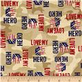 Homefront Girl I Love My Hero Words Tan
