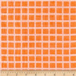 Italian Designer Jacquard Orange/White