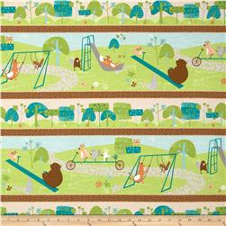 Wonderful Woodlands Repeating Stripe Multi