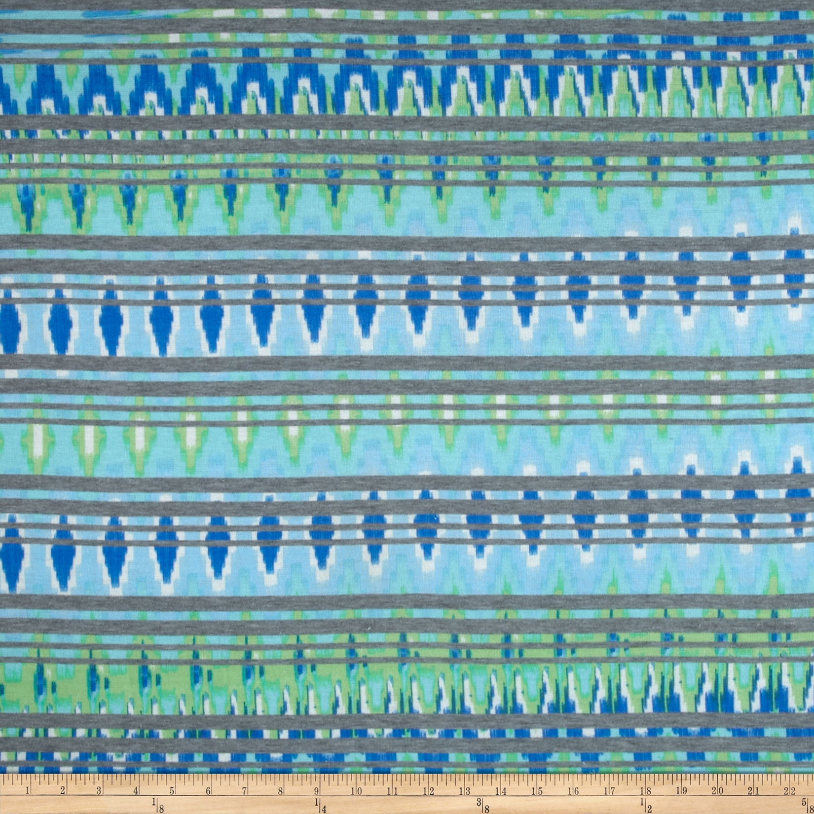 Hatchi Knit Abstract Stripes Blue/Green